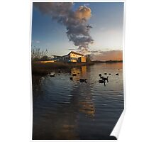 Attenborough Sunset, looking over the Lake  Poster