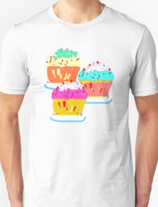 THREE MUFFINS T SHIRT/STICKER Unisex T-Shirt
