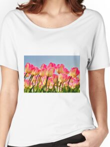 Pink Tulips Bow For The Sun Women's Relaxed Fit T-Shirt