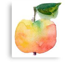 fresh useful eco-friendly apple vector illustration Canvas Print