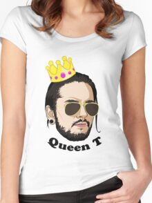 Queen T - Black Text Women's Fitted Scoop T-Shirt