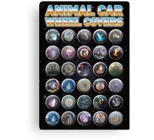 Animal Car Wheel Covers Canvas Print
