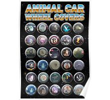 Animal Car Wheel Covers Poster