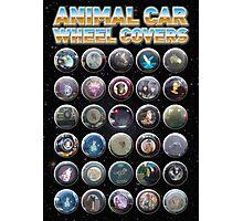Animal Car Wheel Covers Photographic Print