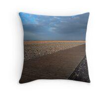 La plage du Havre Throw Pillow