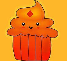 Flame Princess Cupcake by LandMermaid