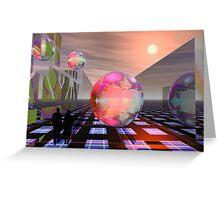 Mandelbrot planets Greeting Card