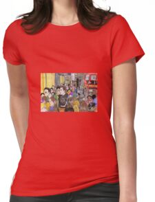 Crowded Oxford Street Womens Fitted T-Shirt