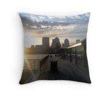 Sun off the pier Throw Pillow