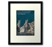 The Fellowship of the Ring inspired design (3). Framed Print