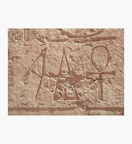 A stands for Ankh  Photographic Print
