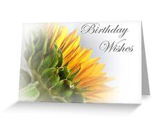 Yellow Sunflower Birthday Card Greeting Card