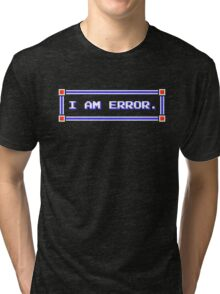 Legend of Zelda - Adventure of Link - I AM ERROR. Tri-blend T-Shirt