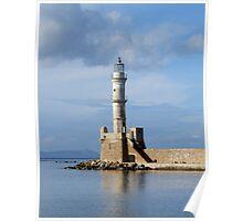 Hania Lighthouse Poster