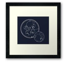 Doctor Who Gallifreyan - Run, you clever boy, Allons-y! Framed Print