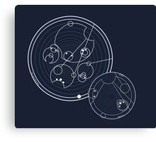 Doctor Who Gallifreyan - Run, you clever boy, Allons-y! Canvas Print