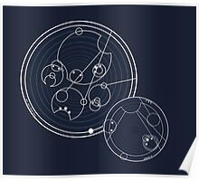 Doctor Who Gallifreyan - Run, you clever boy, Allons-y! Poster