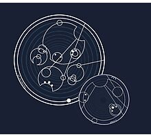 Doctor Who Gallifreyan - Run, you clever boy, Allons-y! Photographic Print