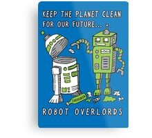 Robot Earth Metal Print