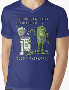 Robot Earth Mens V-Neck T-Shirt
