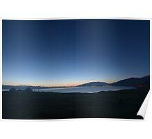 Tranquil Beginnings - Sunrise over Sayram Lake Poster