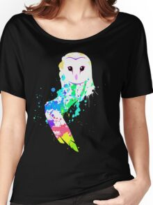 Barn Owl Splash Women's Relaxed Fit T-Shirt