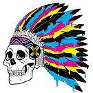 CMYK Skull by Cory Marra