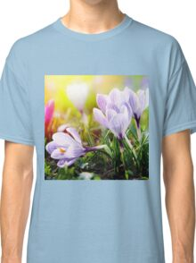 Crocus Easter Flowers Classic T-Shirt