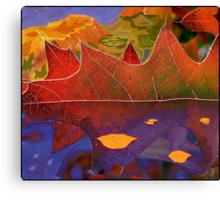 Oak Leaf Dreams of a Colorful World Canvas Print