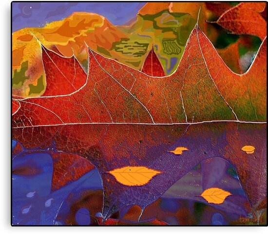 Oak Leaf Dreams of a Colorful World by paintingsheep