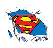 Ripped Superman Photographic Print