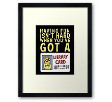 Arthur Library Card Framed Print