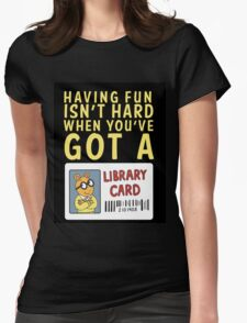 Arthur Library Card Womens Fitted T-Shirt