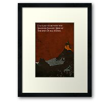 The Return of the King inspired design (3). Framed Print