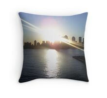 Manhattan Sunrise Throw Pillow