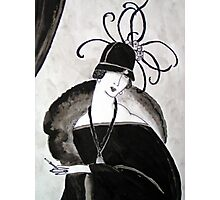 """*Ritzy"" Roaring Twenties Lady with cloche Photographic Print"