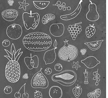 Fruity Drawings by Nic Squirrell