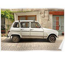 "Renault 4, ""Quatrelle"" Poster"