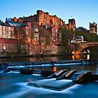 Spring Dusk In Durham City, UK - The Riverside. by David Lewins