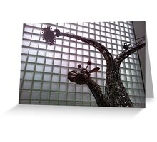 Stainless Steel Cutlery Giraffe Greeting Card