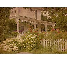 House with the white picket fence Photographic Print