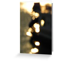 Feeling the Boat and the Water Greeting Card