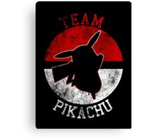 Pokeball Silhouette - Team Pikachu Canvas Print