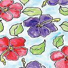 Hibiscus fun flowers  by Deb Coats