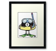Pool Ball Framed Print