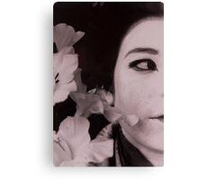 Half Japanese Series: FLOWER Canvas Print