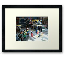 Lego Town Framed Print