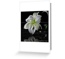 White Lily Fractal Greeting Card