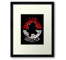 Pokeball Silhouette - Team Squirtle Framed Print