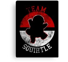 Pokeball Silhouette - Team Squirtle Canvas Print